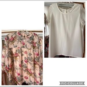 Floral Express blouse & 41 Hawthorne white blouse